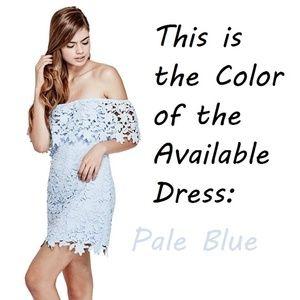Guess Dresses - Guess Lace Dress - Pale Blue
